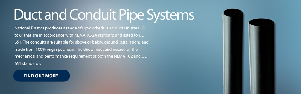Duct and Conduit Pipe Systems
